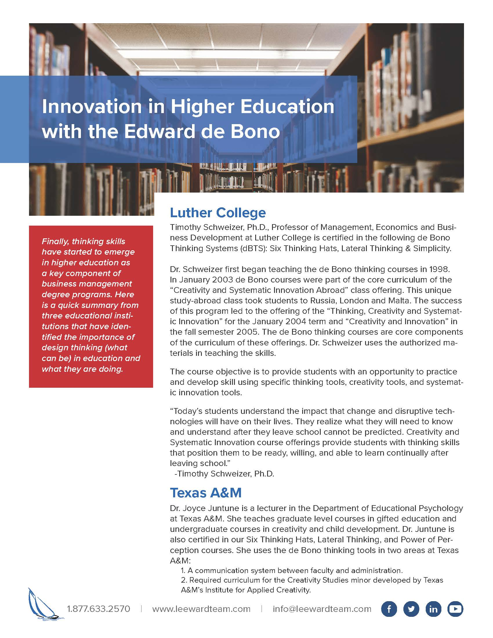 Case Study - Innovation in Higher Education