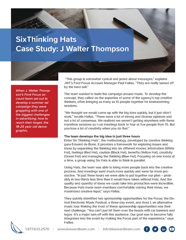 Case Study - J Walter Thompson